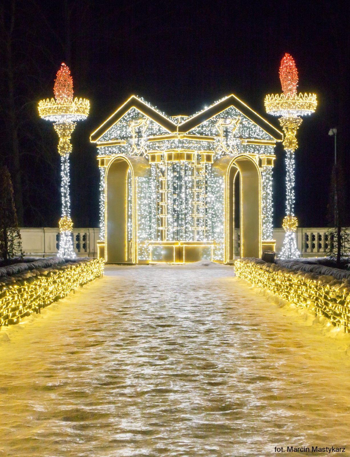 Królewski Ogród światła Wystawa Plenerowa Muzeum Pałacu